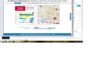 Air Quality Index of 200 in St. Michael, MN, in July 6, 2015 at 1500